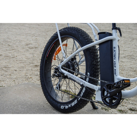 Big Cat Long Beach Cruiser XL500 - Electric Cruiser Bike - Rear Wheel