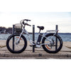 Image of White Big Cat Long Beach Cruiser XL500 - Electric Cruiser Bike - Side View