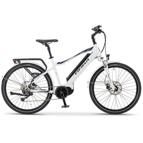 White Fifield Bonfire 350 - Electric Commuter Bike - Side View