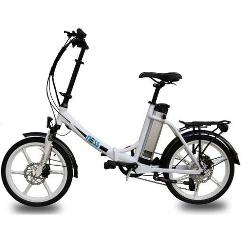 White Ness Icon Folding Electric Bike - Side View