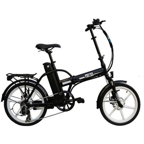 White Ness Rua Folding Electric Bike - Side View