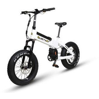 White QuietKat Voyager - Electric Folding Mountain Bike - Front View