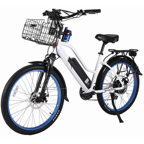 White X-Treme Catalina 48V Electric Cruiser Bike - Front View
