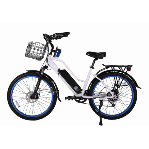 White X-Treme Catalina 48V Electric Cruiser Bike - Side View
