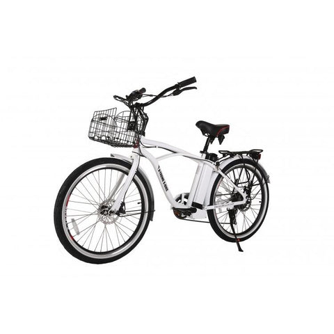White X-Treme Newport Electric Cruiser Bike - Front View