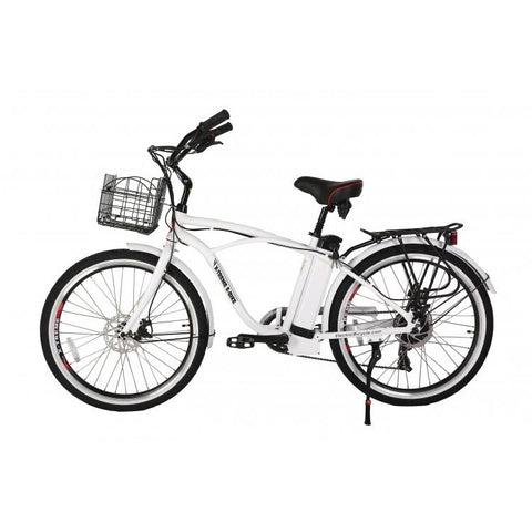 White X-Treme Newport Electric Cruiser Bike - Side View