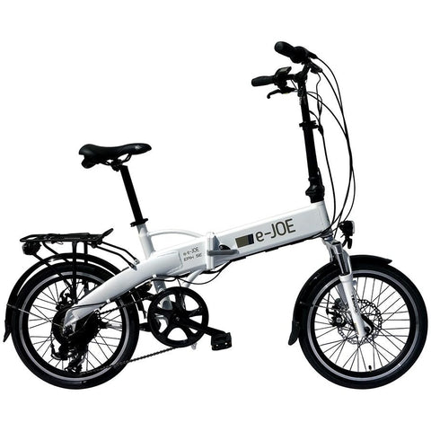 White e-Joe EPIK SE - Folding Electric Bike - Side View