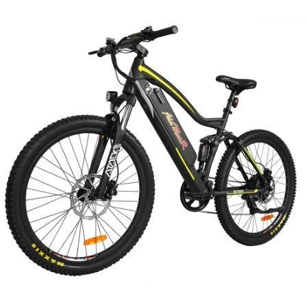 Yellow AddMotor HitHot H1 Platinum - Electric Mountain Bike - Front View