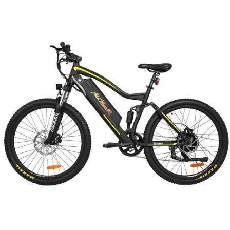 Yellow AddMotor HitHot H1 Platinum - Electric Mountain Bike - Side View