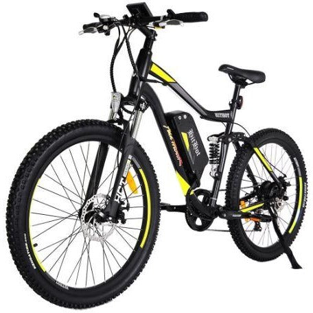 Yellow AddMotor HitHot H1 - Electric Mountain Bike - Front View