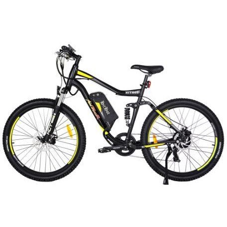 Yellow AddMotor HitHot H1 - Electric Mountain Bike - Side View