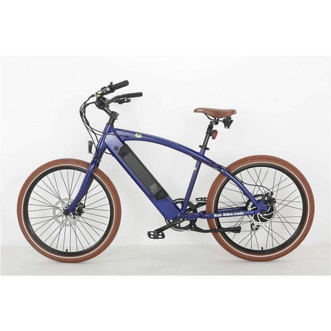 Blue Bat-Bike Bat Cruiser Electric Bike- Side View