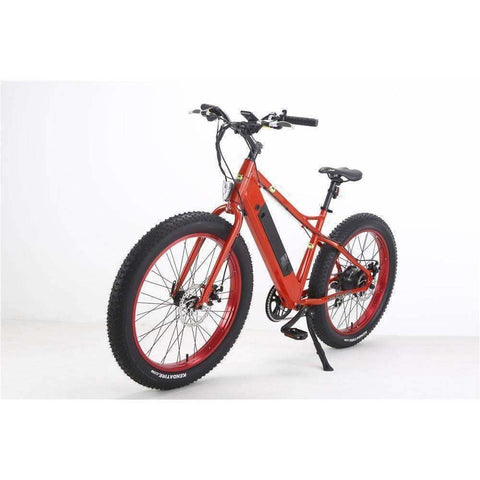 Red Bat-Bike Big Foot - Fat Tire Electric Bike - Side View
