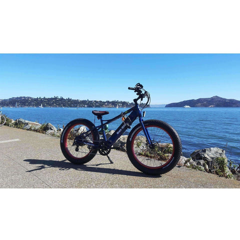 Blue Bat-Bike Big Foot - Fat Tire Electric Bike - Beach