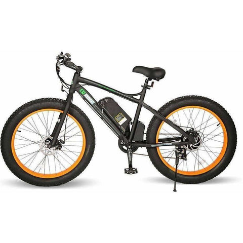 Orange E-GO Fat Tire Beach And Snow Electric Bike 500w / 36v - side view 2