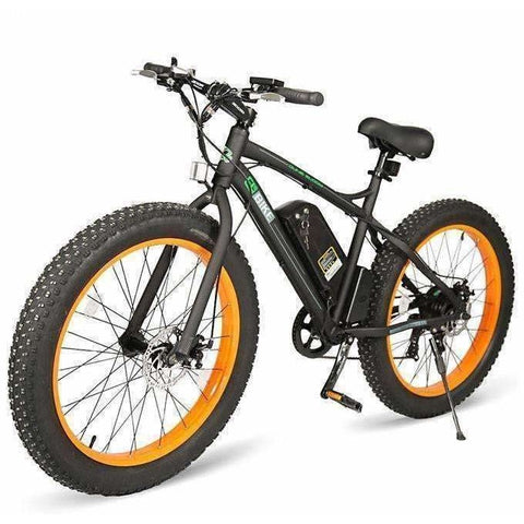 Orange E-GO Fat Tire Beach And Snow Electric Bike 500w / 36v - front view