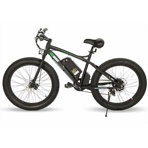 Black  E-GO Fat Tire Beach And Snow Electric Bike 500w / 36v - side view