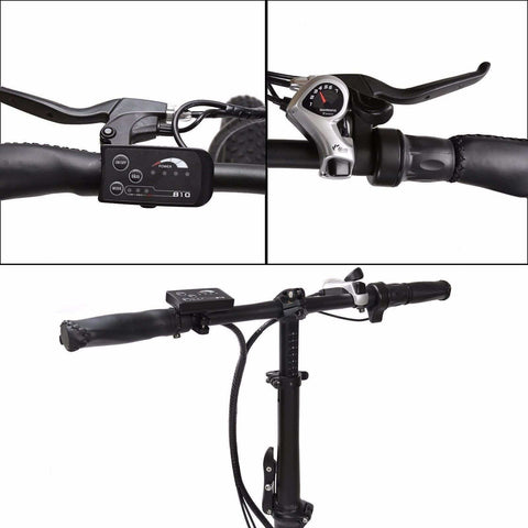 E-GO Fat Tire Folding Electric Mountain Bike 350w / 36v - handle bars
