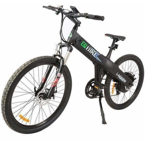 Black E-GO Flash-Electric Bike Commuter 500w/36v - Front View