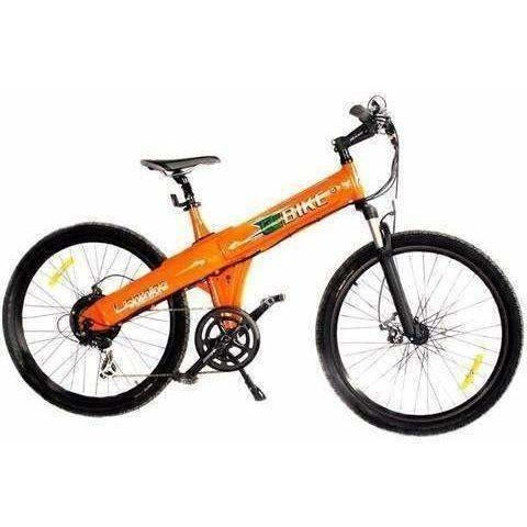 Orange E-GO Flash-Electric Bike Commuter 500w/36v - Side View