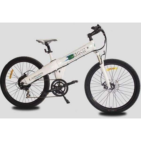 White E-GO Flash-Electric Bike Commuter 500w/36v- Side View