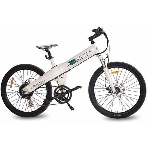 White E-GO Flash-Electric Bike Commuter 500w/48v - Side View