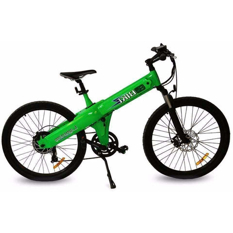 Green E-GO Flash-Electric Bike Commuter 500w/48v - Side View