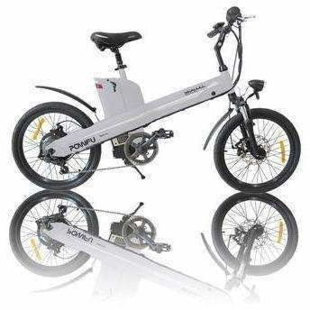 White E-GO Seagull-Commuter Electric Bike 350w/36v - Side View