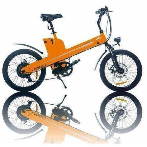Orange E-GO Seagull-Commuter Electric Bike 350w/36v - Side View
