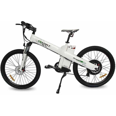 White E-GO Seagull-Electric Mountain Bike 1000w/48v - Side View