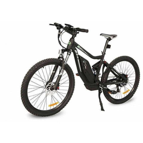 Black E-GO Tronada-Electric Mountain Bike 500w/48v - Front View