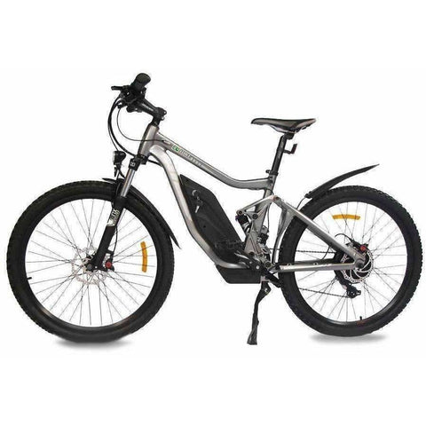 Grey E-GO Tronada-Electric Mountain Bike 500w/48v - Side View