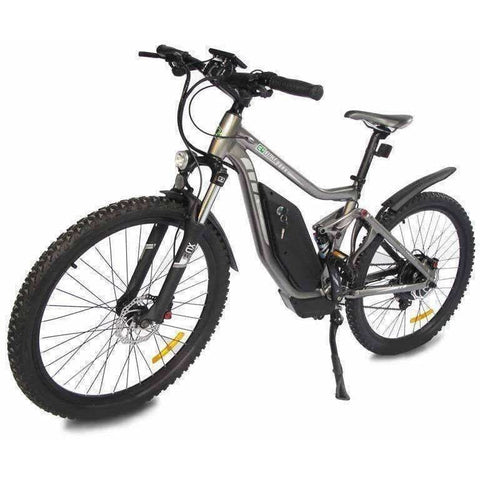 Grey E-GO Tronada-Electric Mountain Bike 500w/48v - Front View