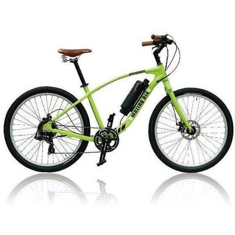Green Emazing Coeus 73h3h Electric Cruiser Bike - Side View