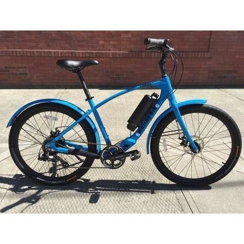 Blue Emazing Coeus 73h3h Electric Cruiser Bike - Side View
