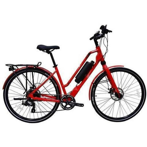 Red Emazing Selene 73h3h Electric Commuter Bike - Side View