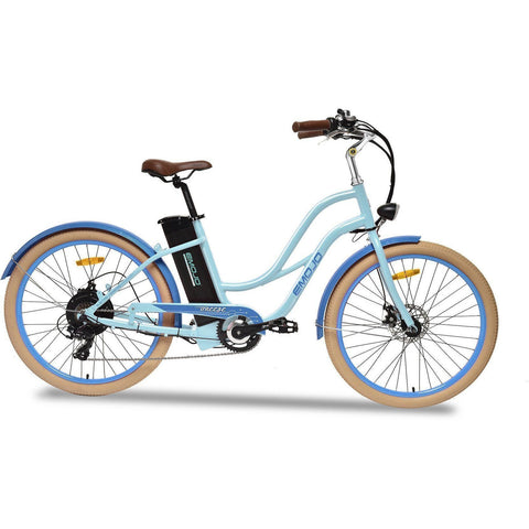 Blue EMOJO Breeze - Cruiser Electric Bike - Side View