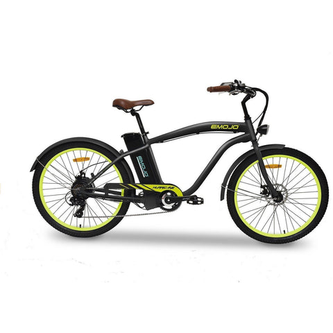 Black EMOJO Hurricane - Cruiser Electric Bike - Side View