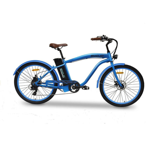 Blue EMOJO Hurricane - Cruiser Electric Bike - Side View