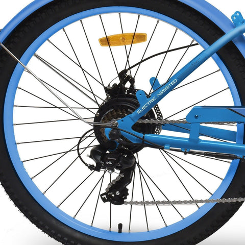 Blue EMOJO Hurricane - Cruiser Electric Bike - Wheel