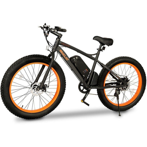 Orange EMOJO Wildcat - Fat Tire Electric Bike - Side View