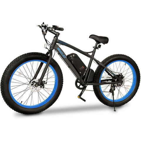 Blue EMOJO Wildcat - Fat Tire Electric Bike - Side View