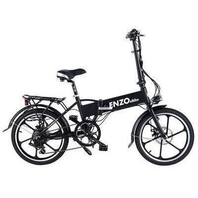 Black Enzo eBikes - Folding Electric Bike - Side View