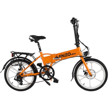 Orange Enzo eBikes - Folding Electric Bike - Side View
