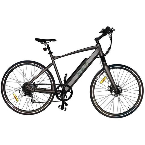 Silver Green Bike USA Himalaya - Electric Mountain Bike - Side View