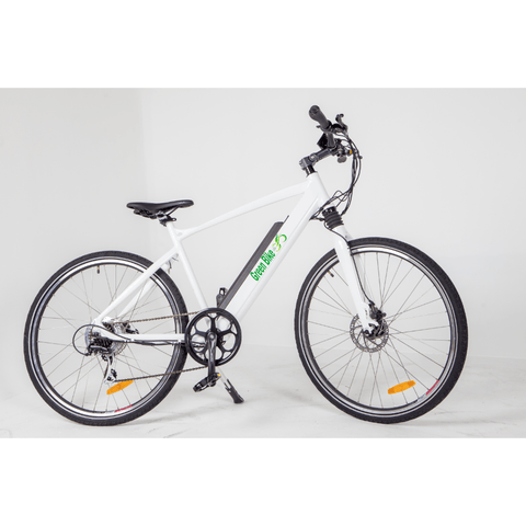 White Green Bike USA Himalaya - Electric Mountain Bike - Side View