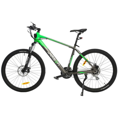 Black/Green Jetson Adventure - Electric Commuter Bike - Side View