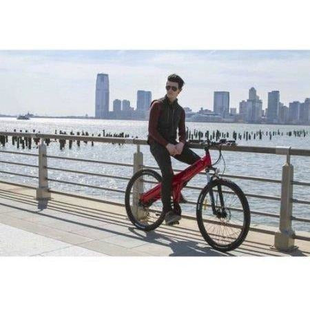 Red Jetson Electric Bikes - Mountain Bike on the street