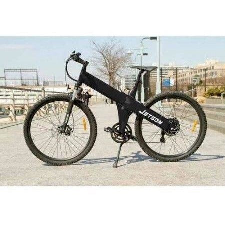 Black Jetson Electric Bikes - Mountain Bike on the street