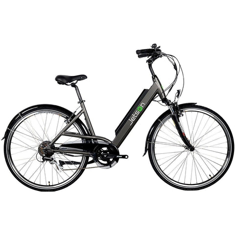 Gun Metal Jetson Cruiser Electric Bike - Side View